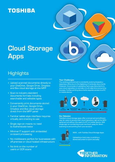 Toshiba Cloud apps brochure
