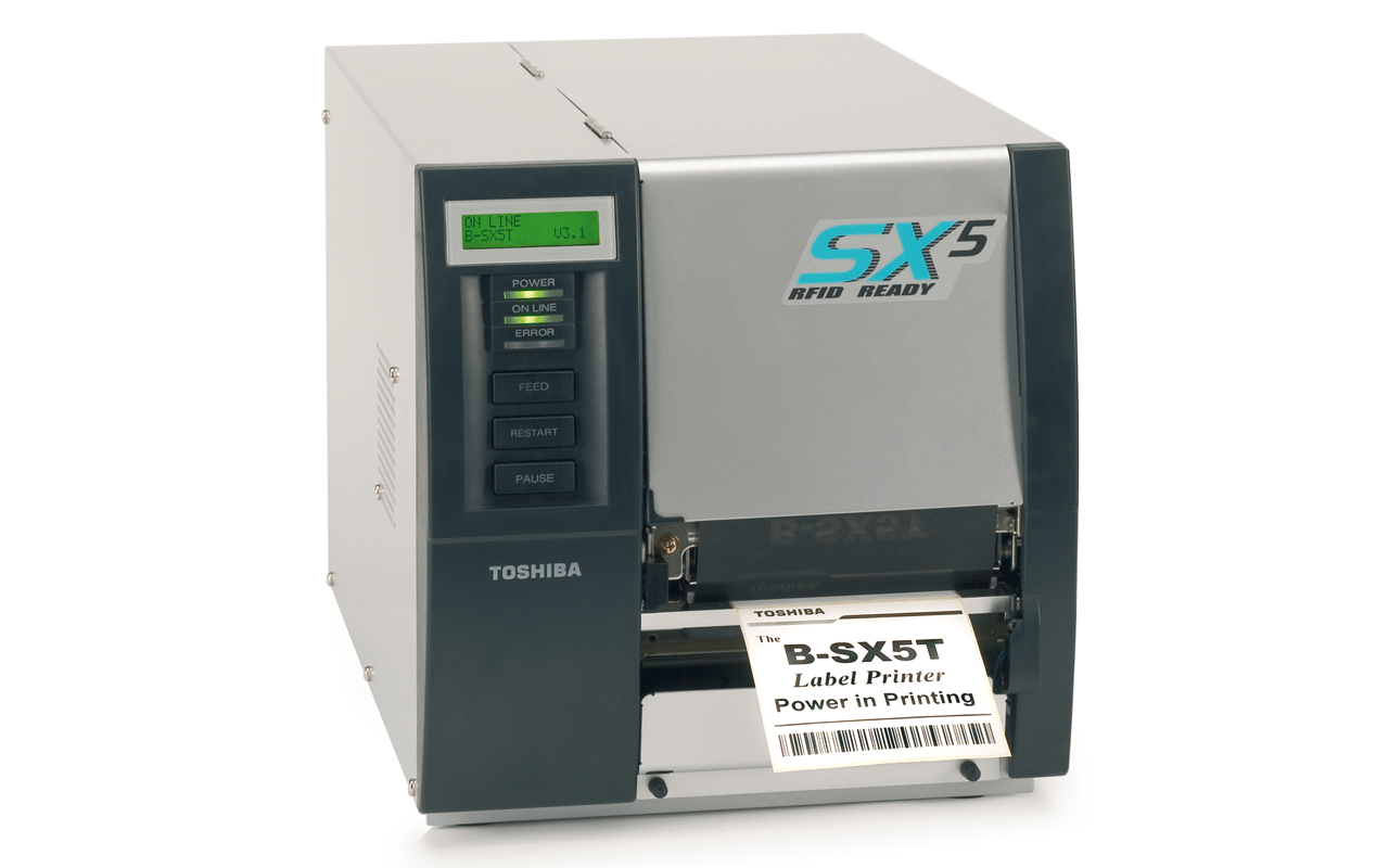 Toshiba B-SX5 industrial barcode label printer