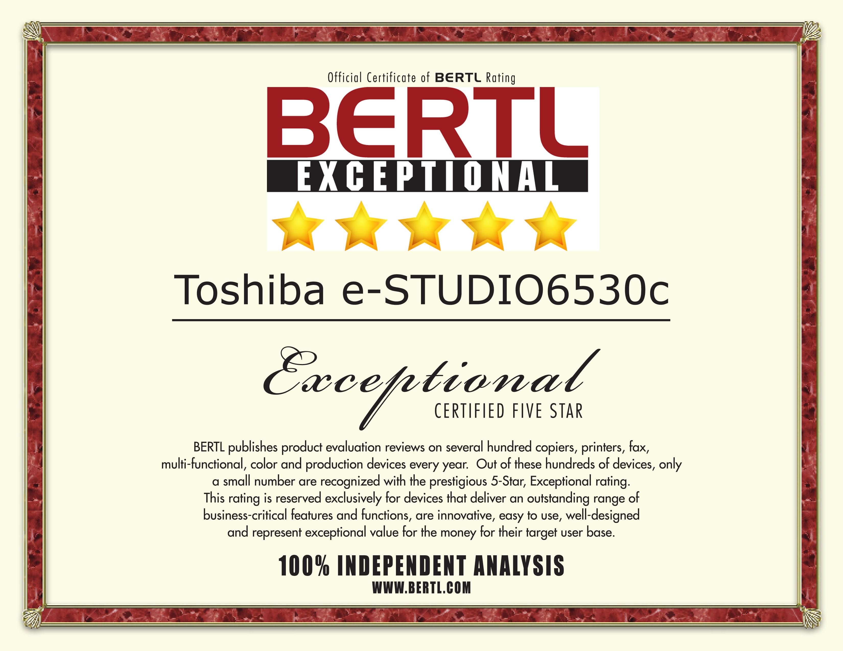 Awards toshiba 2009 bertl 5 star award e studio6530c xflitez Images